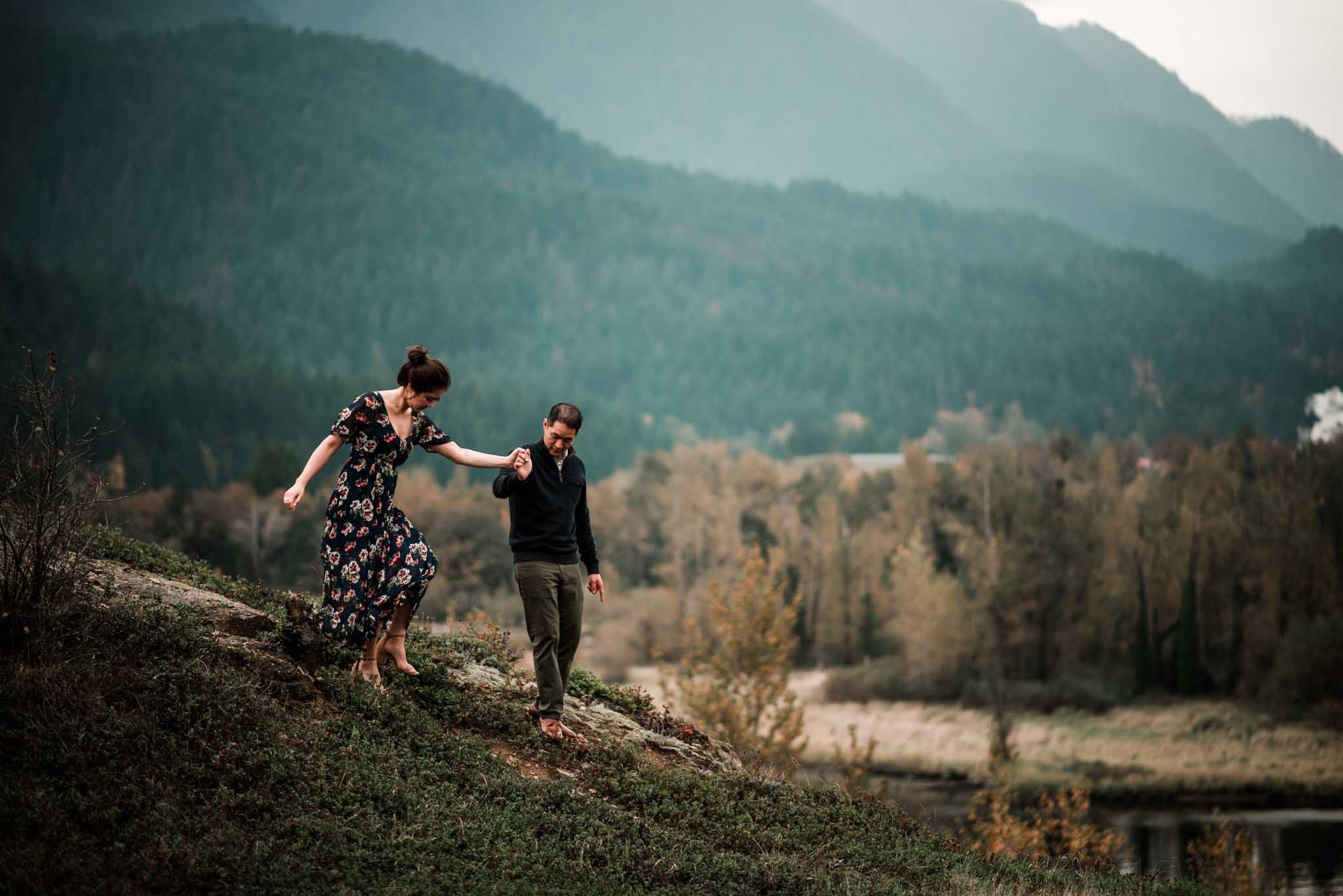 Cascade Locks Engagement-10