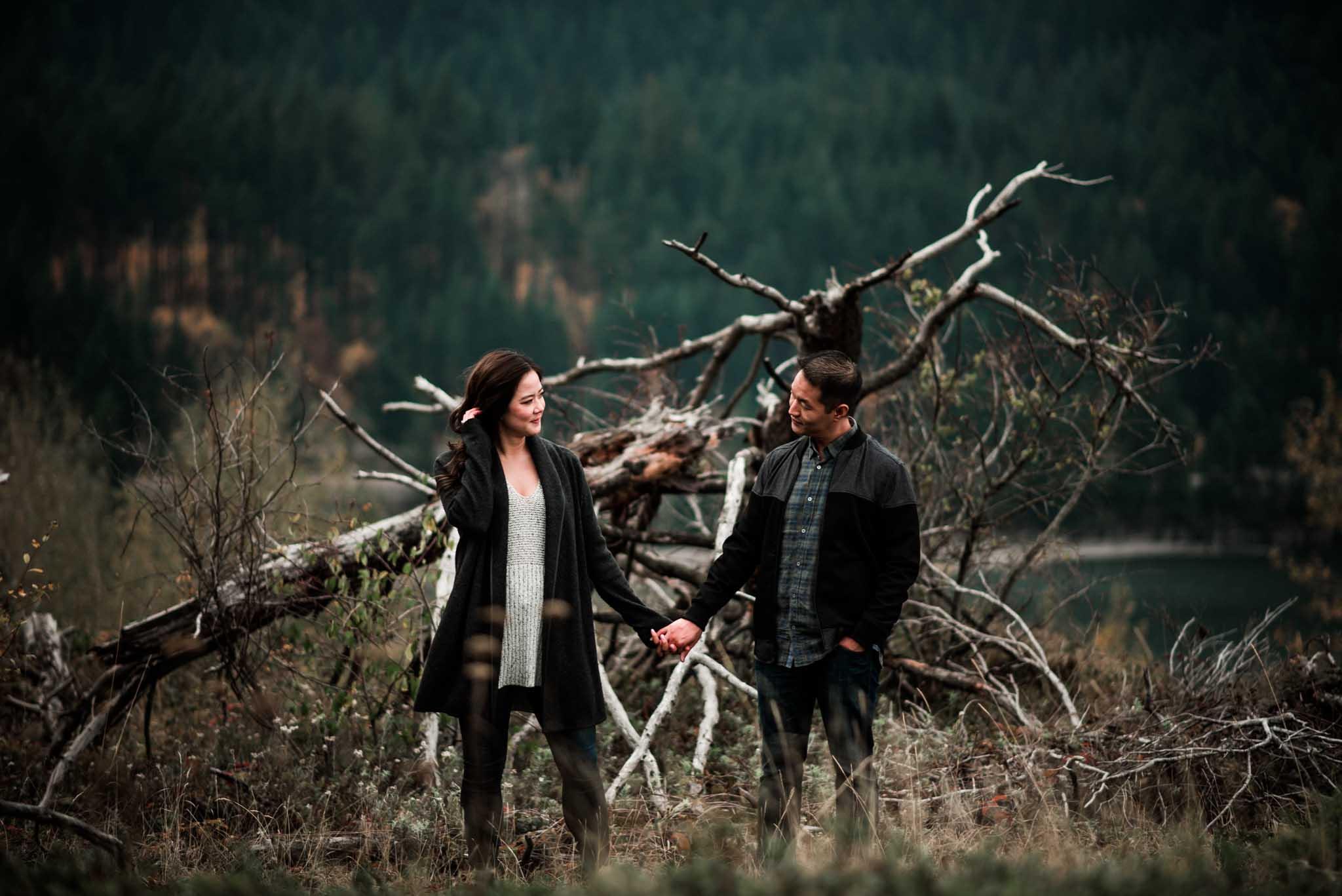 Cascade Locks Engagement-6