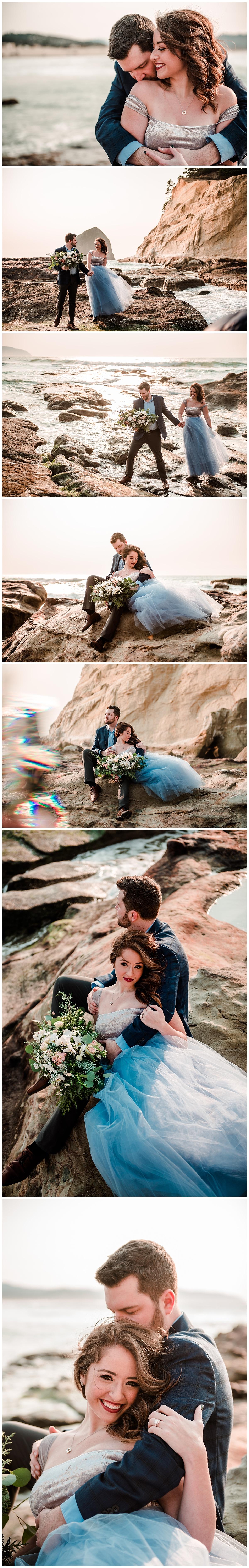 oregon coast engagement and wedding pic