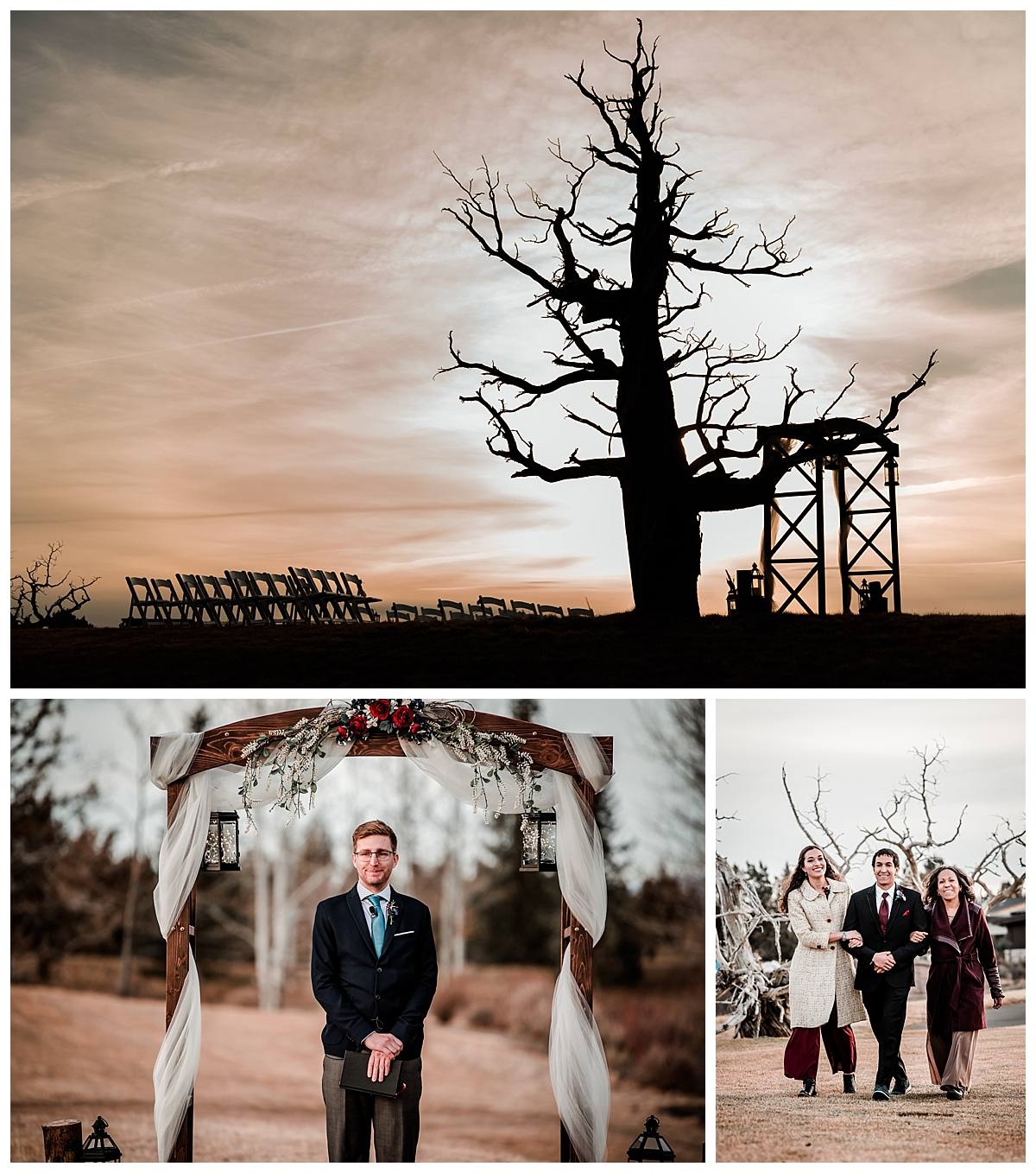 Wedding ceremony pictures outdoor at Ghost Tree Pronghorn Resort