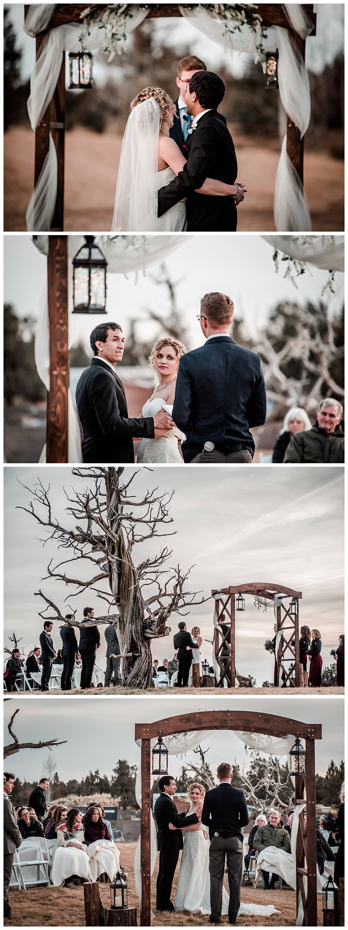 Bend OR wedding pics outdoors Pronghorn golf course
